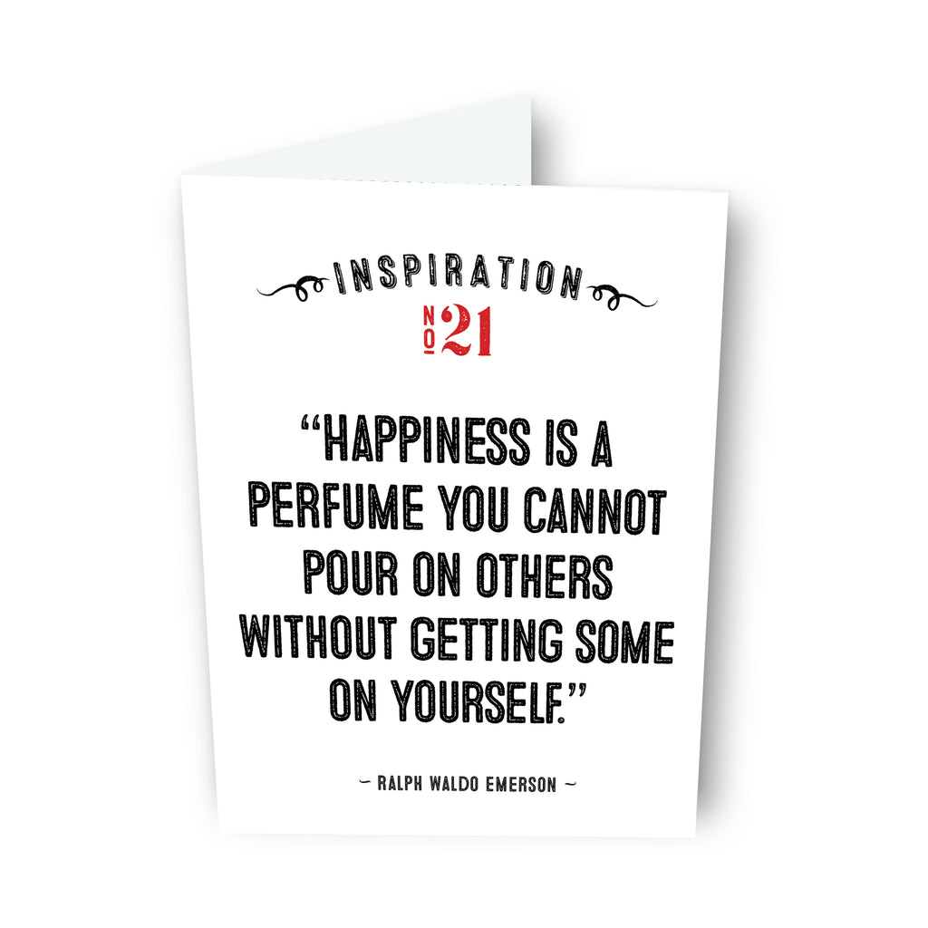 Happiness is... by Ralph Waldo Emerson Card No. 21
