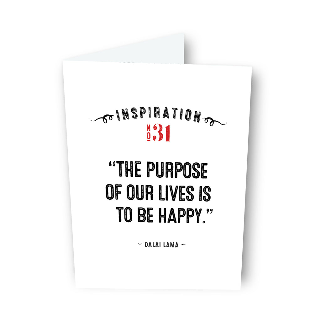 The Purpose of Our Lives by Dalai Lama Card No. 31