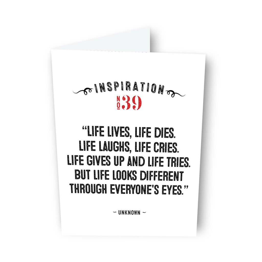 Life Lives, Life Dies by Unknown Card No. 39