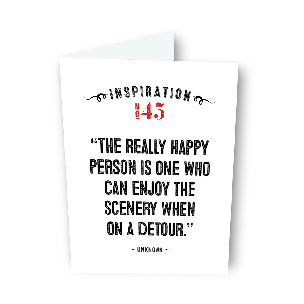 The Real Happy Person by Unknown Card No. 45