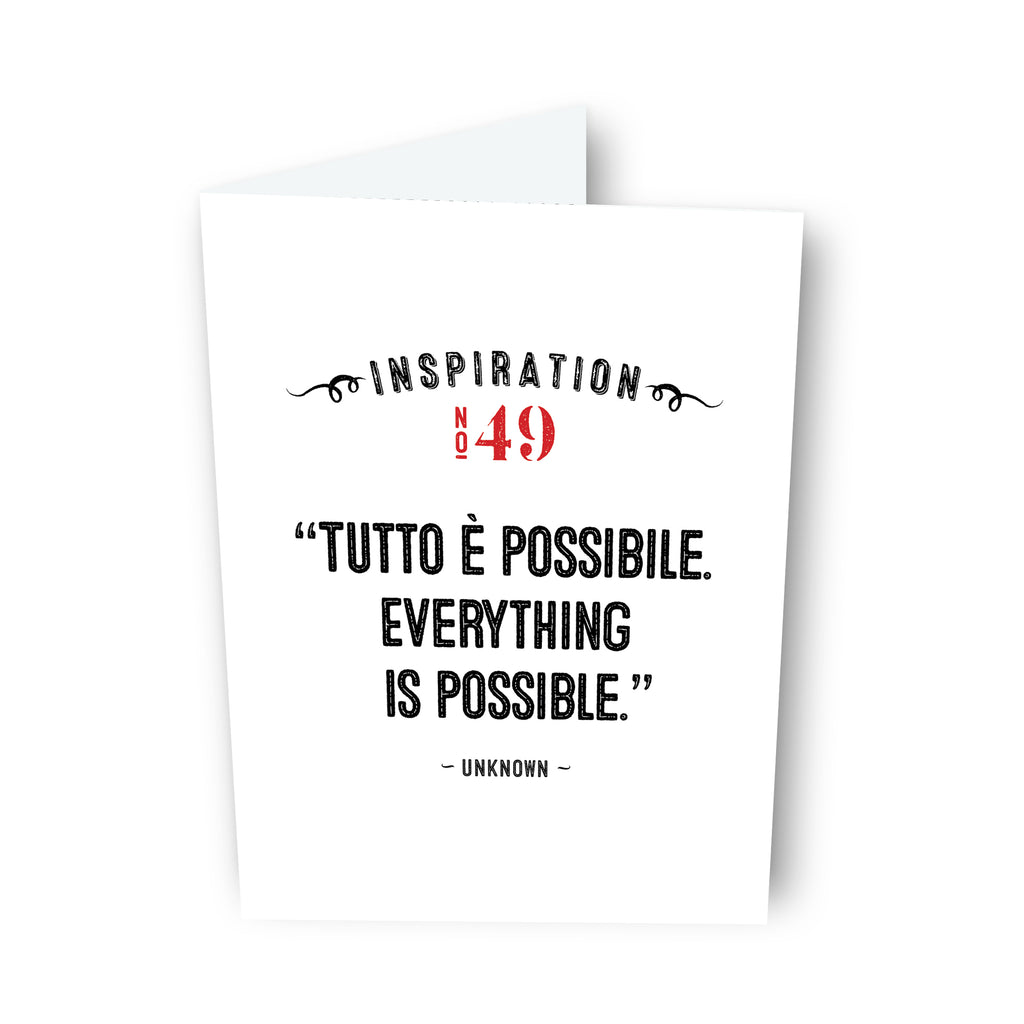 Everything is Possible by Unknown - Card No. 49