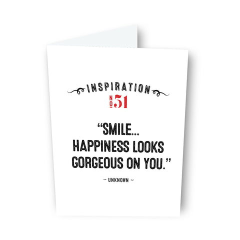 Smile... by Unknown - Card No. 51