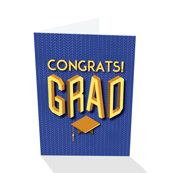 Congrats! Grad - Graduation Card (Blue)