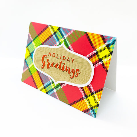 """Holiday Greetings"" Madras Greeting Card"