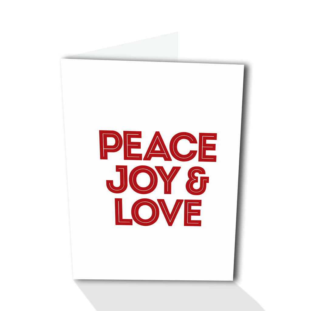Holiday Petites - Peace Joy & Love (Foiled)