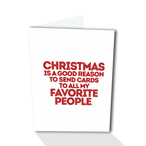 Holiday Petites - Favorite People (Foiled)