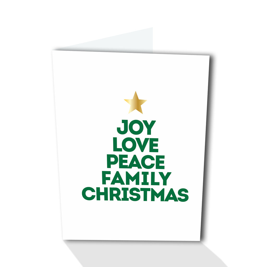 Holiday Petites - Joy-Love-Peace Tree (Foiled)