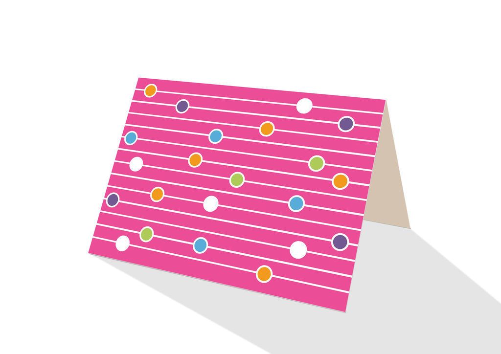 Abacas Brights Pink Notecards
