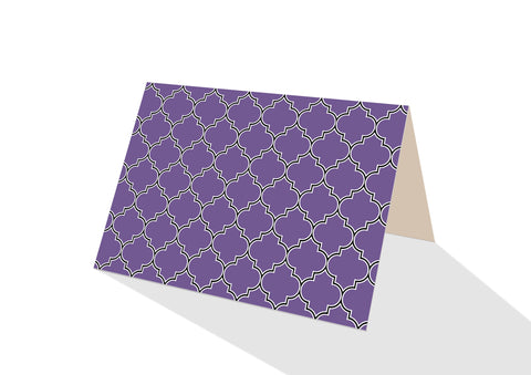 Moroccan Brights Purple Notecards