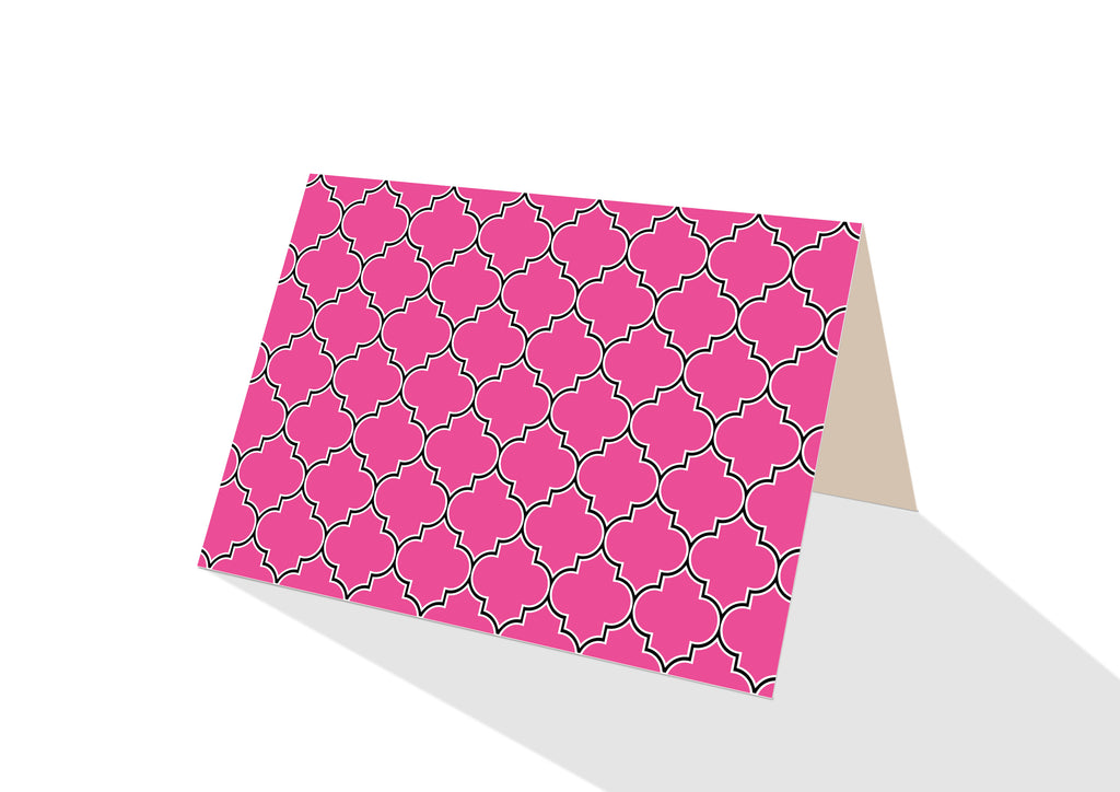 Moroccan Brights Pink Notecards