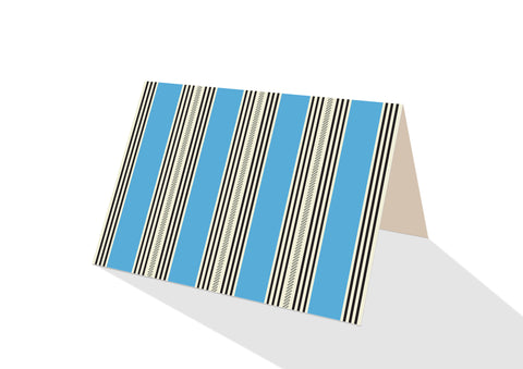 Pinstripe Brights Blue Notecards