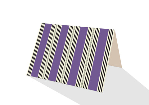 Pinstripe Brights Purple Notecards