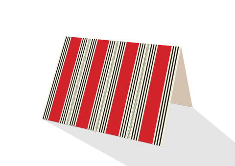 Pinstripe Brights Red Notecards
