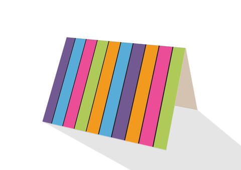 Pops! Brights Stripes Notecards