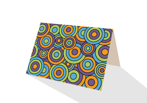 Pops! Brights Circles Notecards