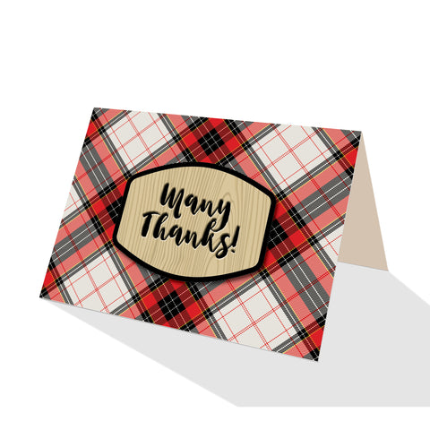 White Hamilton Plaid Greeting Cards - 5 Options