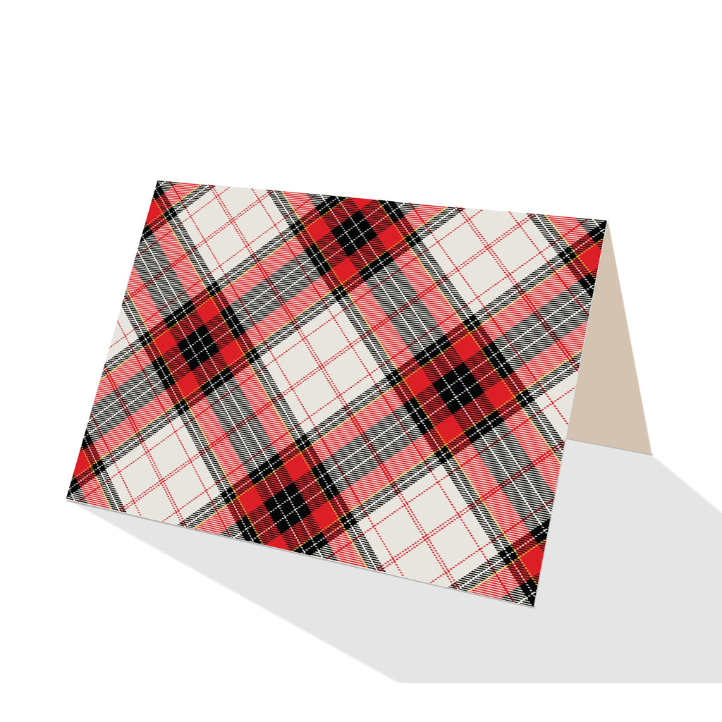 White Hamilton Plaid Notecards (Set of 8)