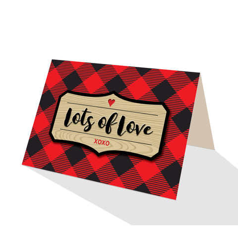 Buffalo Plaid Greeting Cards - 5 Options