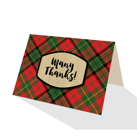 Merry Tartan Plaid Greeting Cards - 5 Options