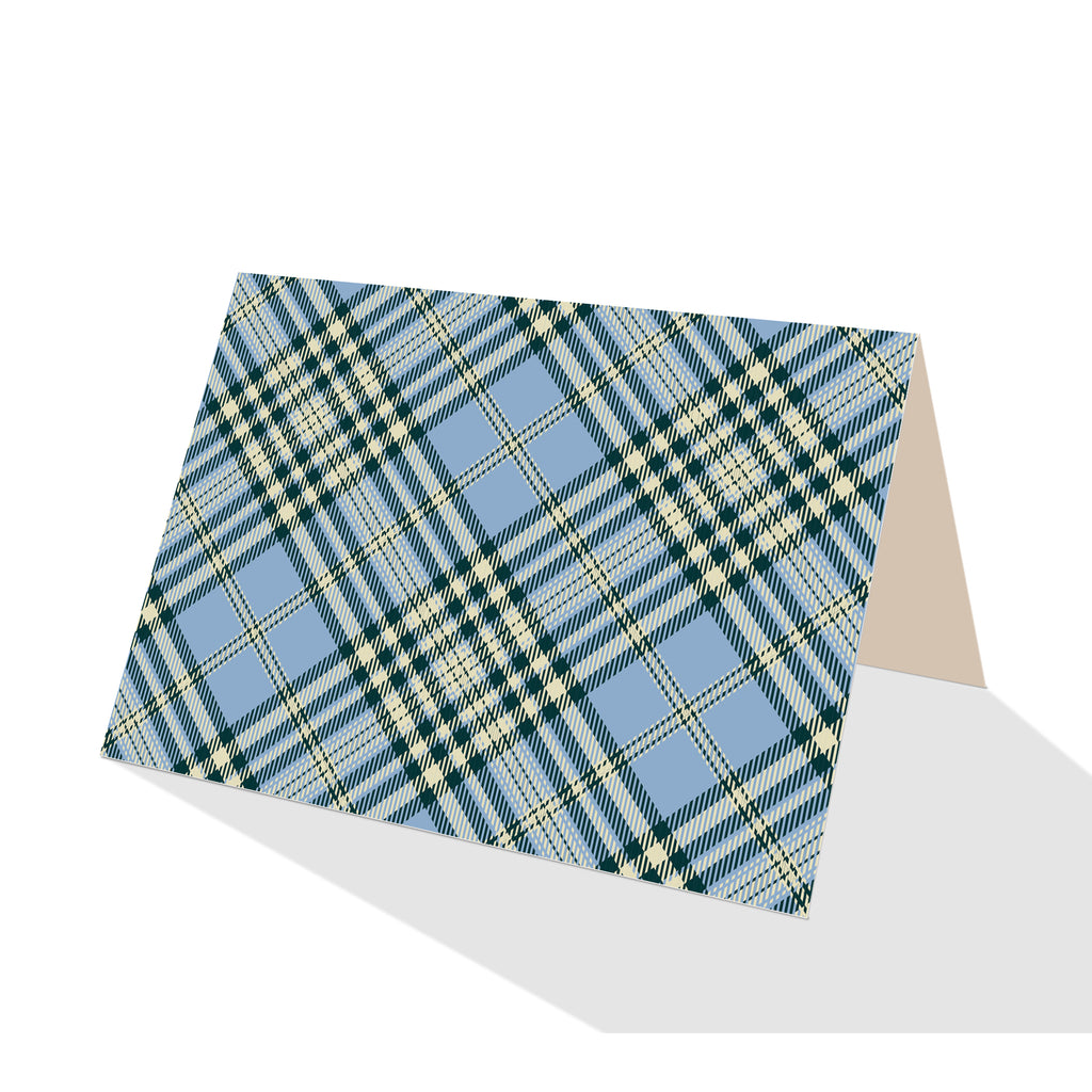 Blue Scotch Plaid Boxed Notes (Set of 8)