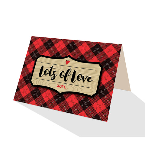 Red Tartan Check Plaid Greeting Cards - 5 Options