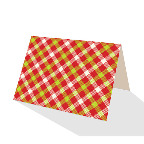 Merry Gingham Plaid Notecards (Set of 8)