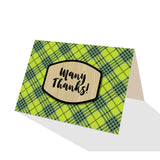 Green Tartan Plaid Greeting Cards - 5 Options