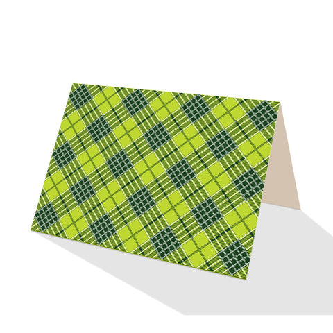 Green Tartan Plaid Notecards (Set of 8)