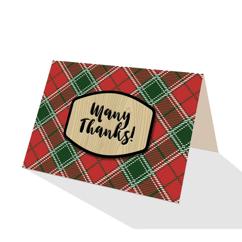 Imperial Red Tartan Plaid Greeting Cards - 5 Options