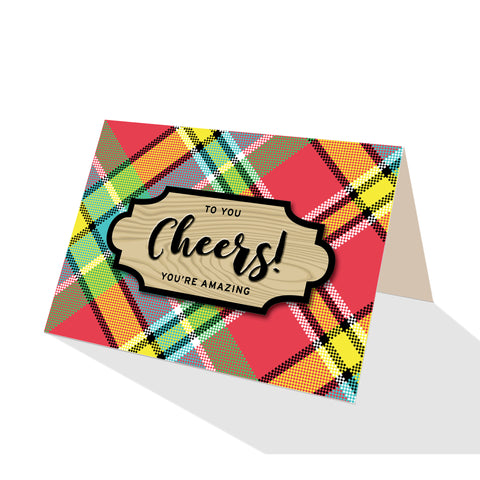Madras Plaid Greeting Cards - 5 Options