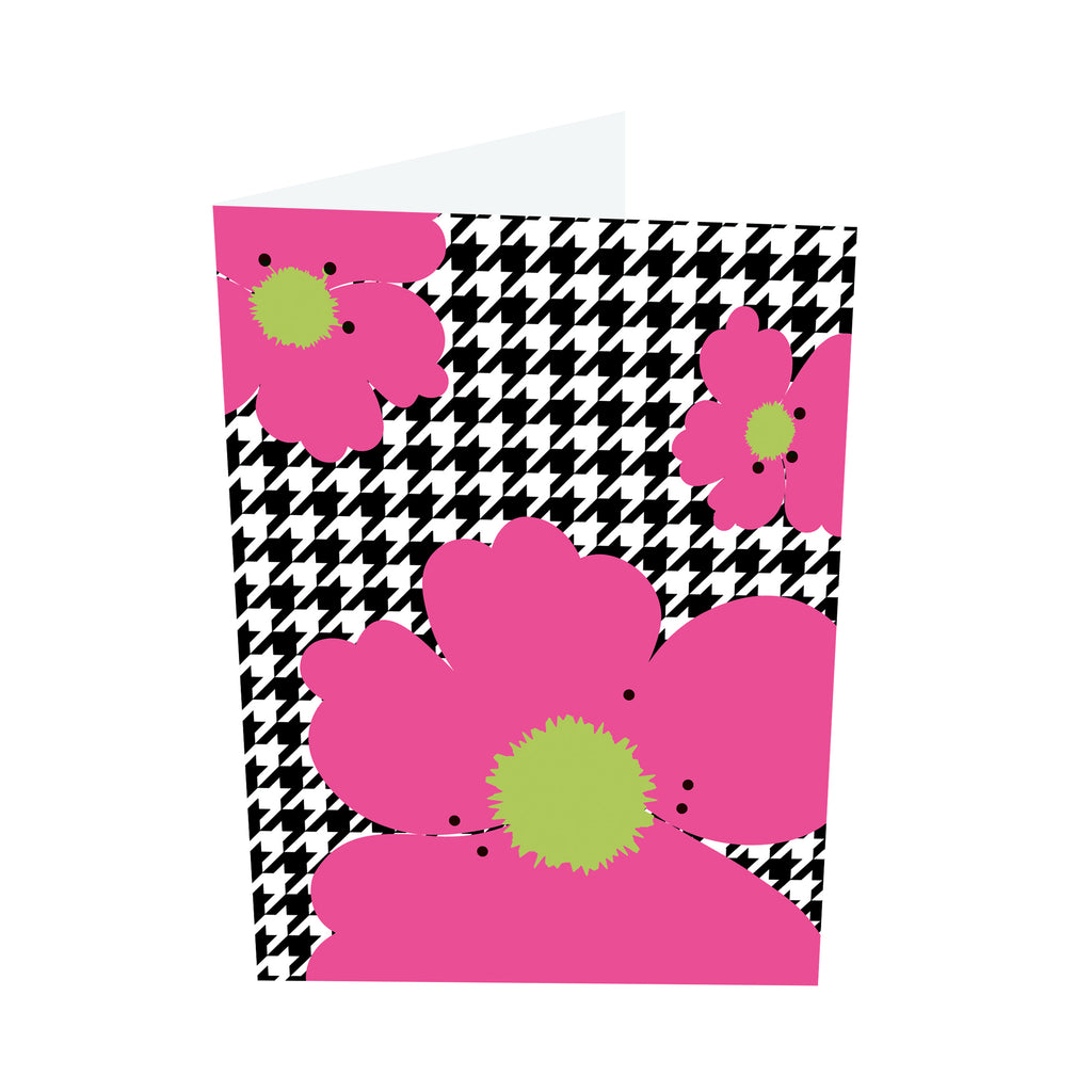 Poppy Brights! Pink/Green Notecards