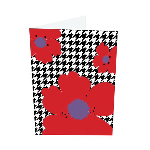 Poppy Brights! Red/Purple Notecards (3 Message Options)