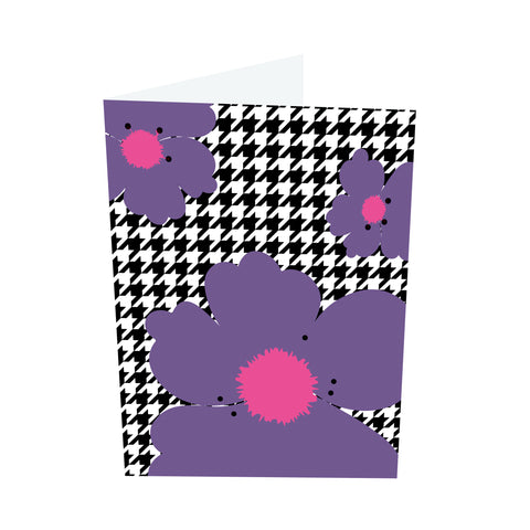 Poppy Brights! Pink/Purple Notecards (3 Message Options)