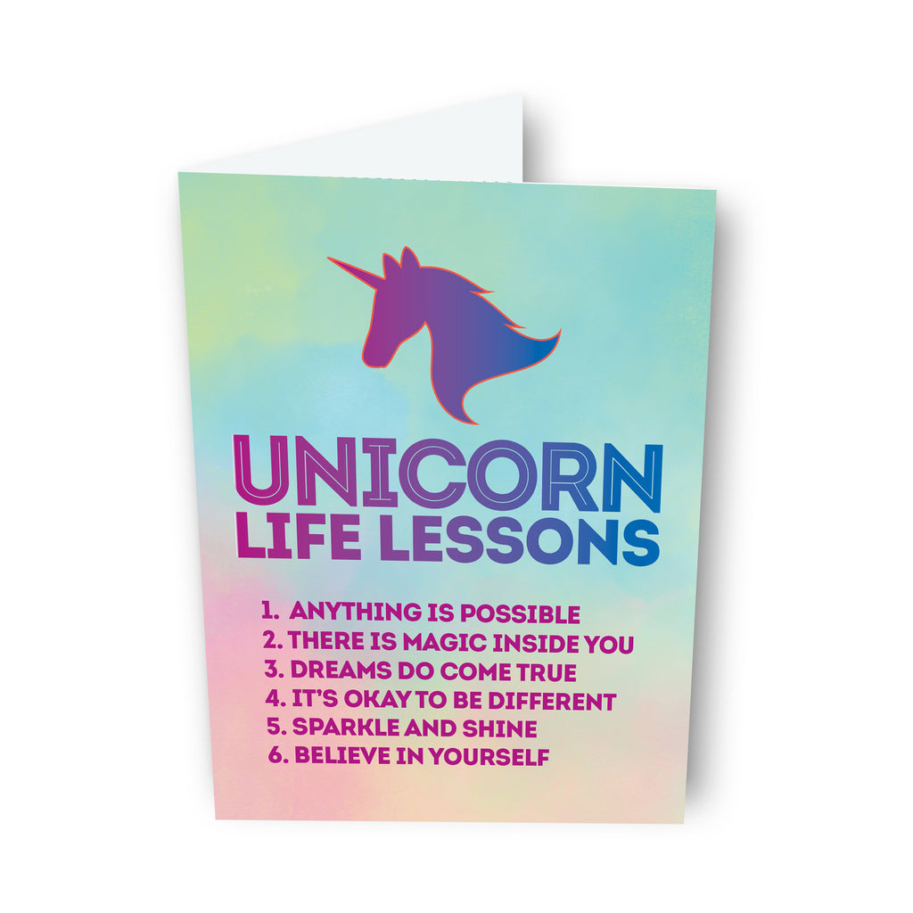 Unicorn Life Lessons Card