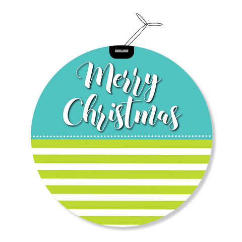 """Merry Christmas"" GeoChristmas Round Holiday Greeting Cards"