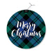 Blackwatch Plaid Round Holiday Greeting Cards