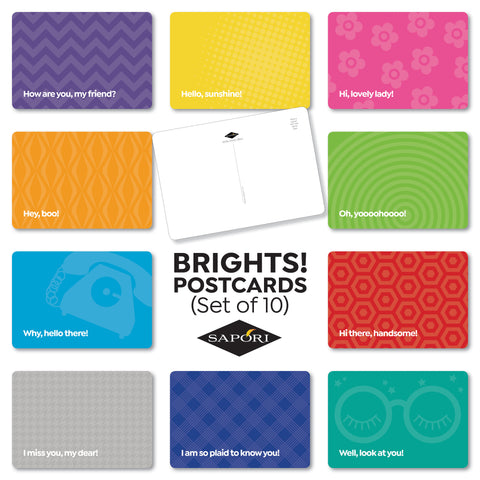 HiYa Brights! Postcards (Set of 10)