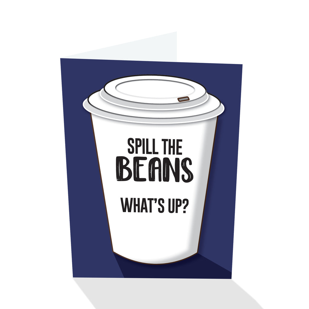 """Spill the Beans"" Notecard"