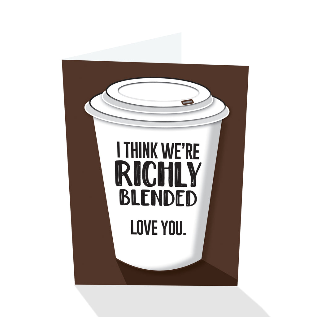 """Richly Blended"" Notecard"