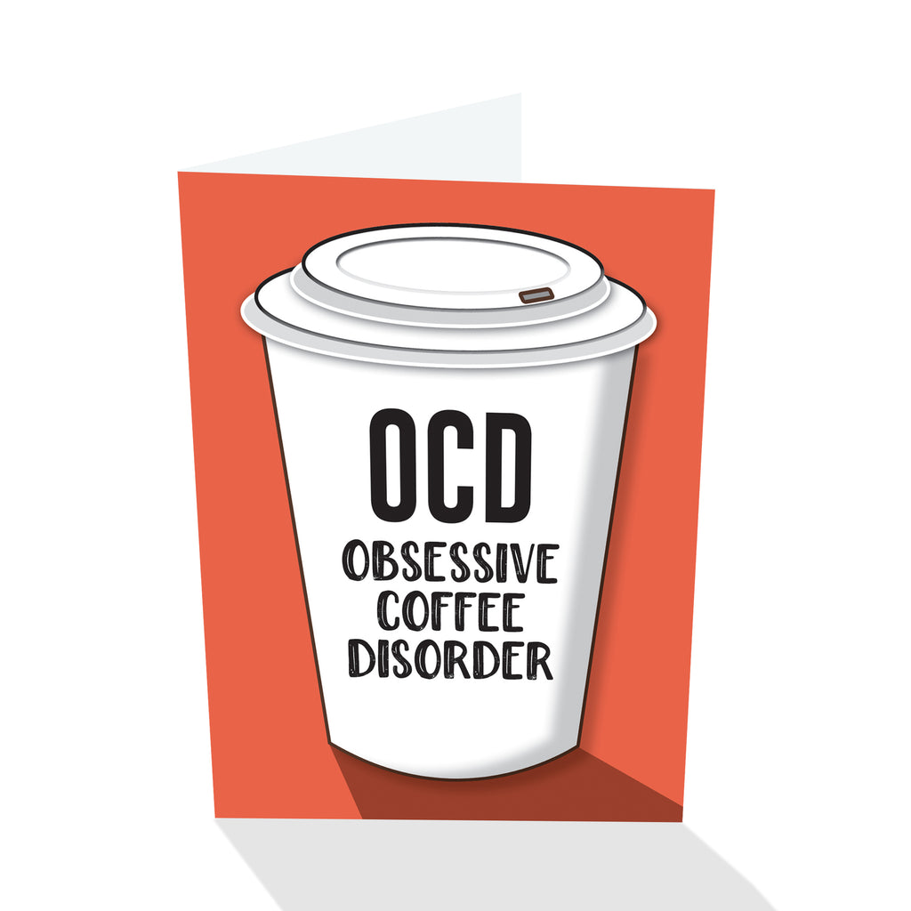"""OCD Obsessive Coffee Disorder"" Notecard"