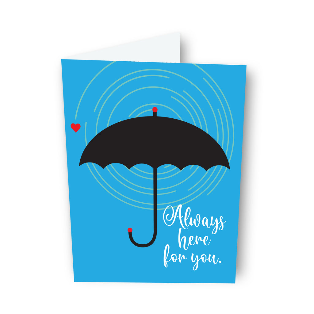 """Always here for you."" Card"