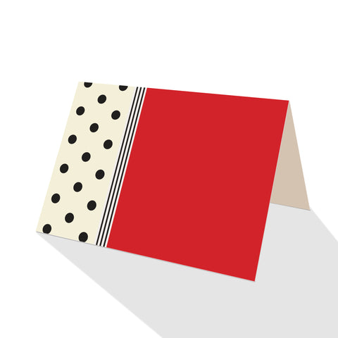 Hepburn Dots Notecards Red