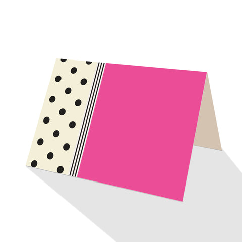 Hepburn Dots Notecards Pink