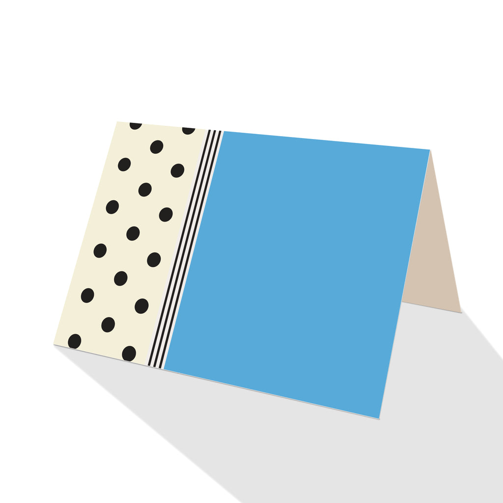 Hepburn Dots Notecards Blue - 25 Options