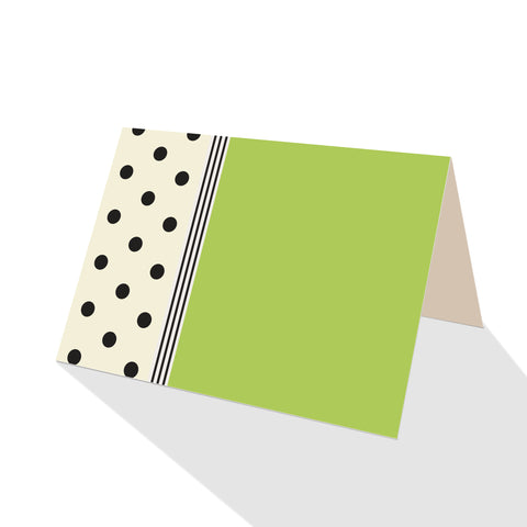 Hepburn Dots Notecards Green