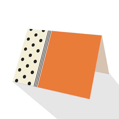 Hepburn Dots Notecards Orange