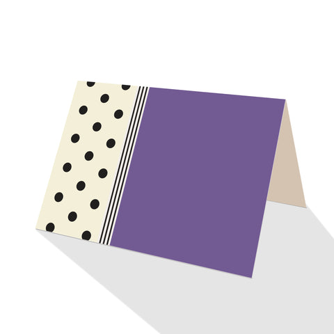 Hepburn Dots Notecards Purple