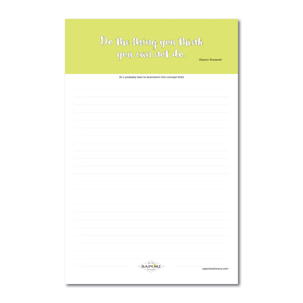 Do The Thing... Eleanor Roosevelt Notepads (Set of 3)
