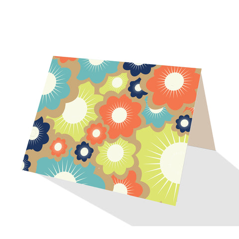 Beach Time! Blooms Notecards