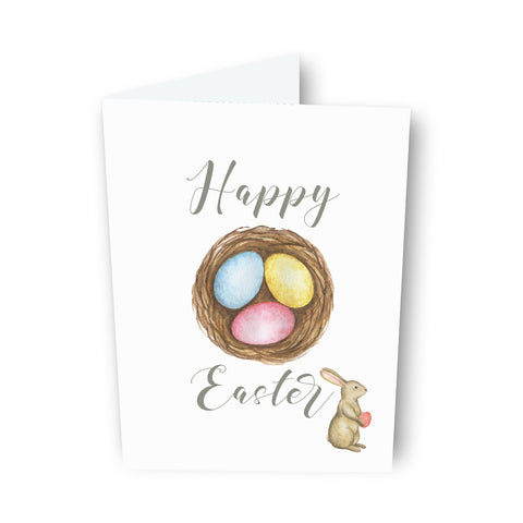 Happy Easter Egg Nest Card